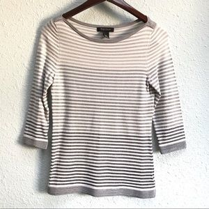 White House Black Market Striped Lurex Shirt XS